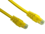 ecraft cat 5e patch lead yellow 1m