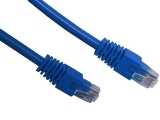 ecraft cat 6 patch lead blue 1m