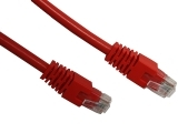 ecraft cat 6 patch lead red 1m