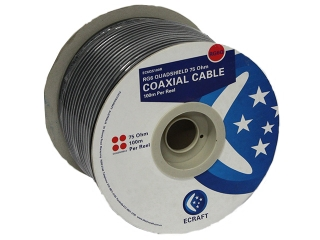 ecraft rg6 quad shield 100mtr roll