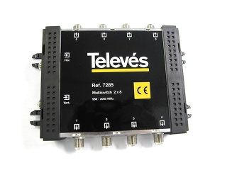 televes tel7285 2 in 8 out multiswitch